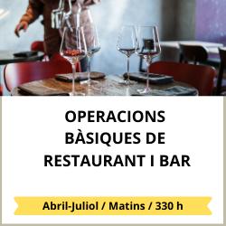Operacions bàsiques de bars i restaurants