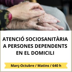 Atenció sociosanitària a persones dependents en el domicili