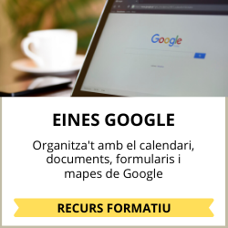 organitza't amb les eines google: calendari, documents i mapes
