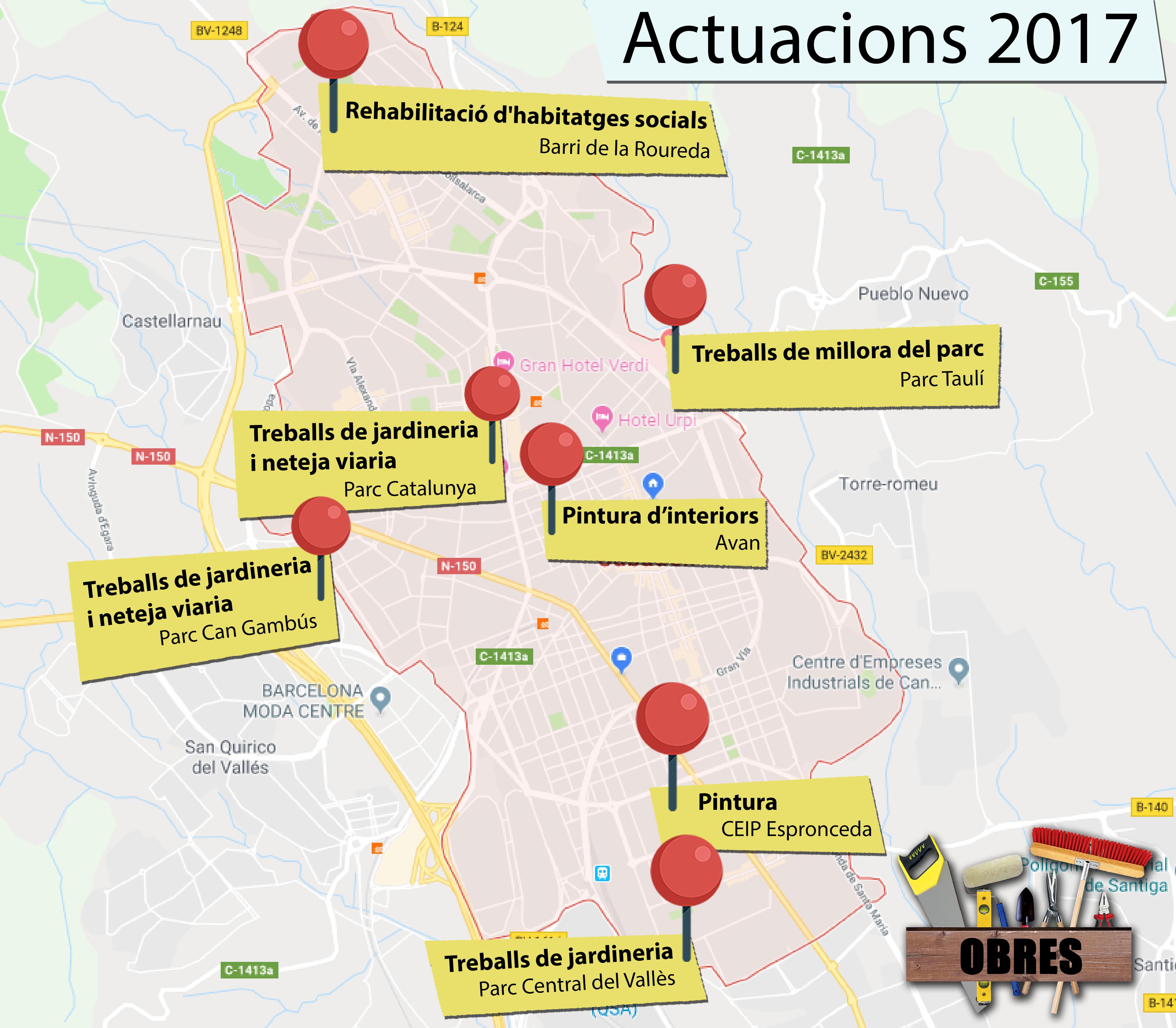 mapa d'obres 2017