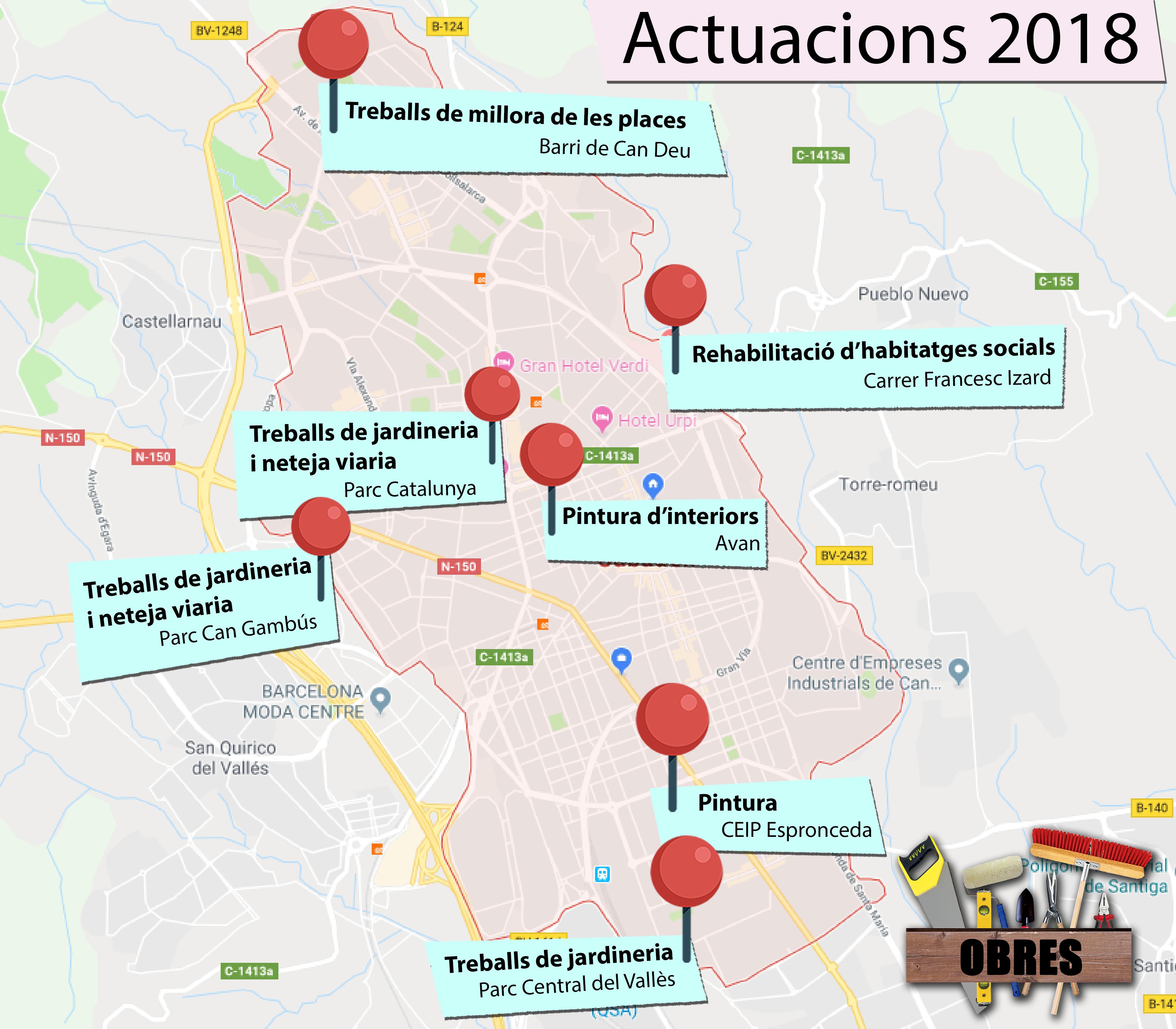 mapa d'obres 2018