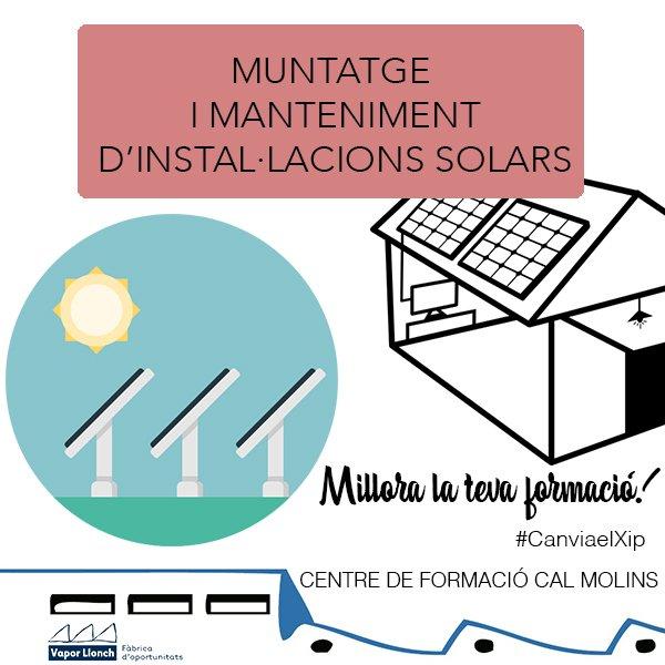 Curs de Muntatge i manteniment d'instal·lacions solars tèrmiques