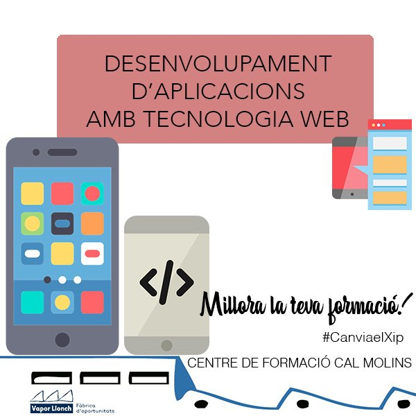 Curs de desenvolupament d'aplicacions amb tecnologia web