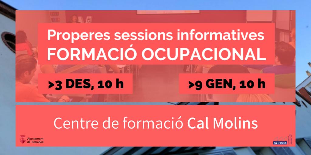 properes sessions informatives: FORMACIÓ OCUPACIONAL